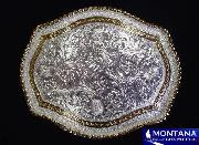 Solid Silver Filigree Belt Buckle